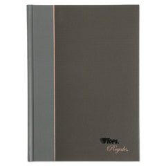 TOPS Royale Casebound Business Notebook, College, Black/Gray, 8.25 x 5.88, 96 Sheets