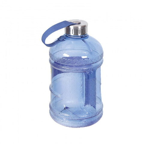 Drinking Water Bottle with Stainless Steel Cap - Dark Blue
