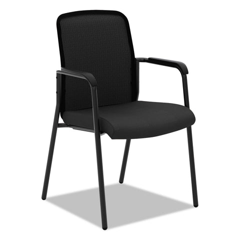HON VL518 Mesh Back Multi-Purpose Chair with Arms, Black Seat/Black Back, Black Base