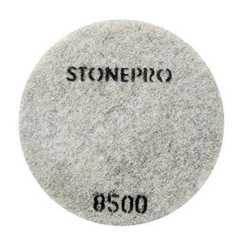 "Stone Pro 20"" Flexible Resin DOT Pads 8500 Grit - For Superior Polish On Stone, Concrete and Terrazzo"