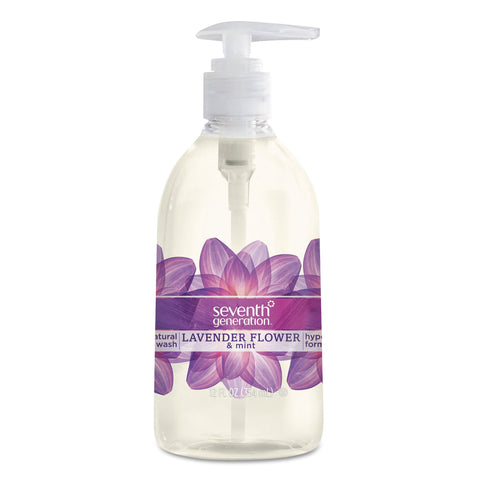 Seventh Generation Natural Hand Wash, Lavender Flower & Mint, 12 oz Pump Bottle