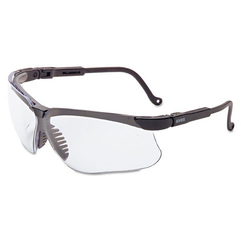 Honeywell Uvex Genesis Safety Eyewear, Black Frame, Clear Lens