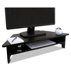 Victor High Rise Collection Monitor Stand, 27 x 11 1/2 x 6 1/2-7 1/2, Black - Black