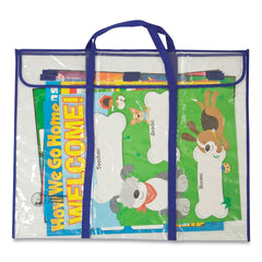 "Carson-Dellosa Education Bulletin Board Storage Bag, Blue/Clear, 30"" x 24"""