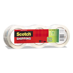 "Scotch Sure Start Packaging Tape, 3"" Core, 1.88"" x 54.6 yds, Clear, 3/Pack"