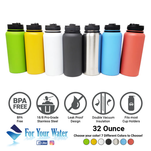 Double Wall Vacuum Sealed, 304 Stainless Steal  - Stainless Steel Water Bottles