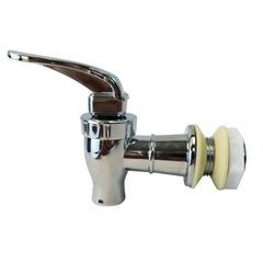 Plastic Spigot Faucet and Lid - Vertical Red Stipe
