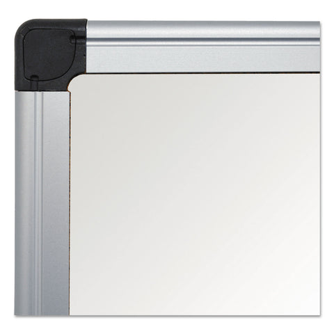 MasterVision Value Lacquered Steel Magnetic Dry Erase Board, 24 x 36, White, Aluminum Frame - White