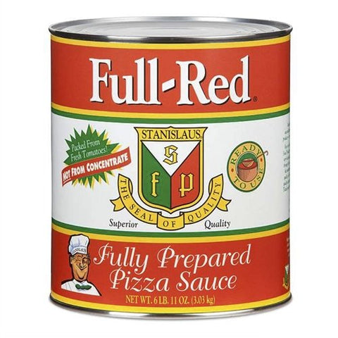 Full Red Fully Prepared Pizza Sauce #10 - Single Can