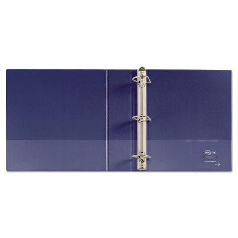 "Avery Durable View Binder with DuraHinge and Slant Rings, 3 Rings, 2"" Capacity, 11 x 8.5, Blue"