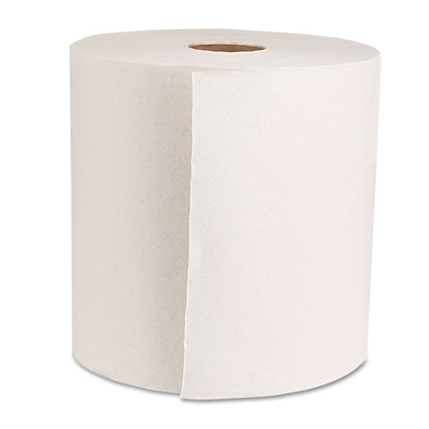 "Boardwalk Boardwalk Green Universal Roll Towels, Natural White, 8""x800ft, 6 Rolls/Carton - Natural White"