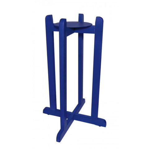 "For Your Water 30"" Natural Wood Painted Water Crock Dispenser Floor Stand - Blue - Blue / 30 Inches / Wood"