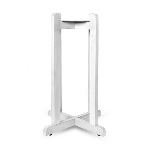 "27"" Wood Painted Stand - White"