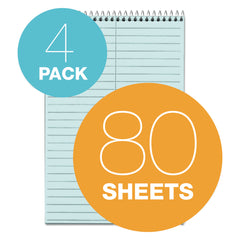 TOPS Prism Steno Books, Gregg Rule, 6 x 9, Blue, 80 Sheets, 4/Pack