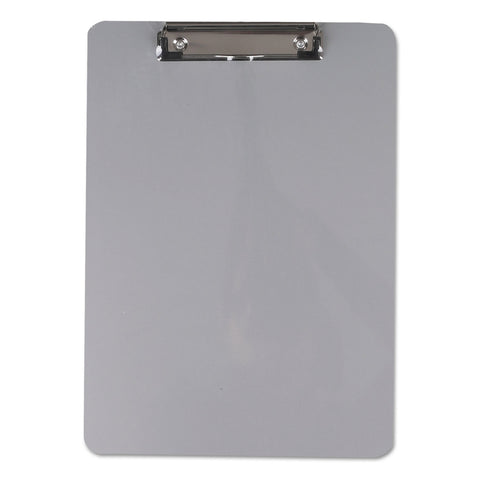 "Universal Aluminum Clipboard with Low Profile Clip, 1/2"" Capacity, 8 x 11 1/2 Sheets"