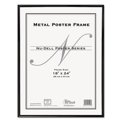 NuDell Metal Poster Frame, Plastic Face, 18 x 24, Black - Black / 18 x 24