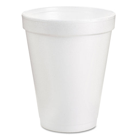 Dart Foam Drink Cups, 8oz, White, 25/Pack