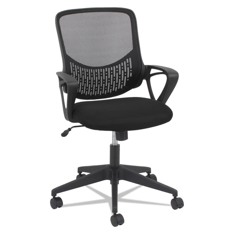 OIF Modern Mesh Task Chair, Supports up to 250 lbs., Black Seat/Black Back, Black Base - Black