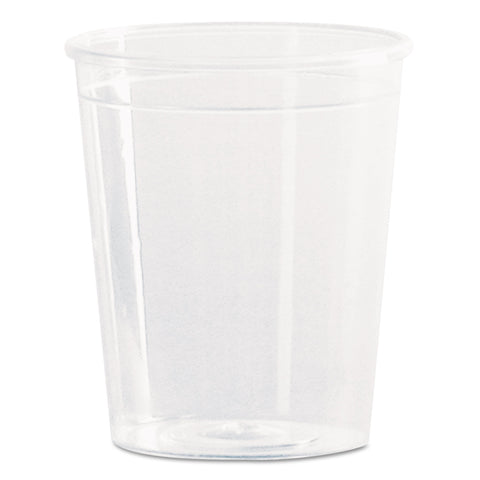 Comet Plastic Portion/Shot Glass, 2 oz., Clear, 50/Pack