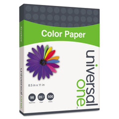 Universal Deluxe Colored Paper, 20lb, 8.5 x 11, Green, 500/Ream