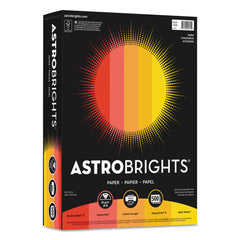 "Astrobrights Color Paper - ""Warm"" Assortment, 24lb, 8.5 x 11, Assorted Warm Colors, 500/Ream - Assorted Warm Colors / 8.5 x 11"