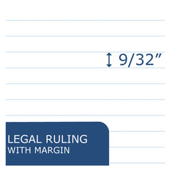 Roaring Spring USDA Bio-Preferred Legal Pad, Wide/Legal Rule, 5 x 8, White, 40 Sheets, 12/Pack - White / 5 x 8