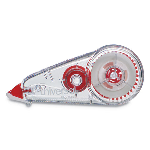 "Universal Correction Tape, Mini Economy, Non-Refillable, 1/4"" x 275"", 10/Pack"