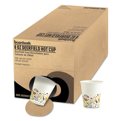 Convenience Pack Paper Hot Cups, 8 oz, Deerfield Print, 306/Carton