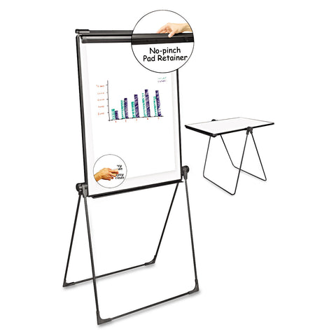Universal Foldable Double-Sided Dry Erase Easel, Two Configurations, White Board: 29 x 41 - White