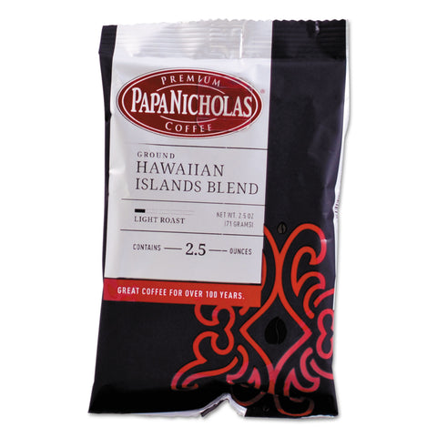PapaNicholas Coffee Premium Coffee, Hawaiian Islands Blend, 18/Carton