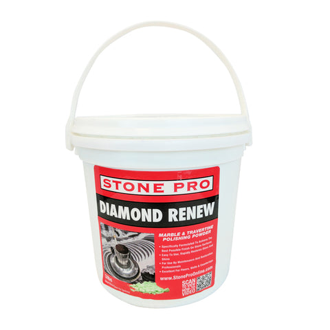 Stone Pro Diamond Renew - Marble And Travertine Polishing Powder - 3 Pound