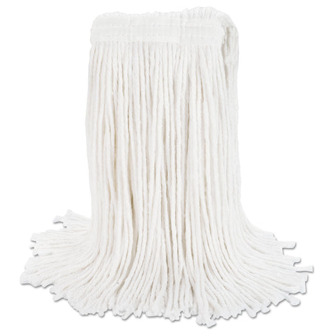 Boardwalk Cut-End Wet Mop Head, Rayon, No. 20, White