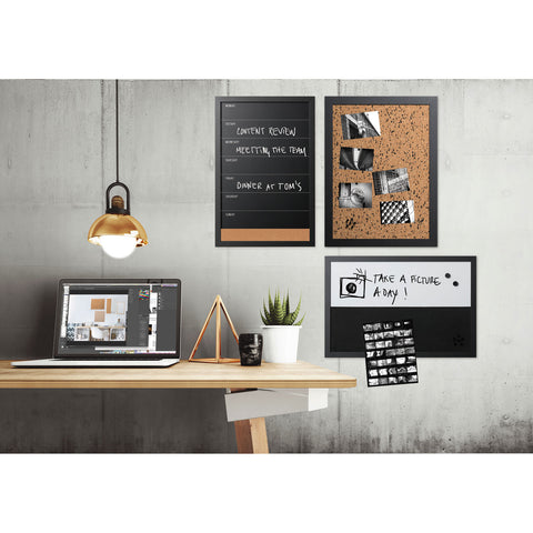 MasterVision Black and White Message Board Set, Assorted Sizes and Colors, 3/Set