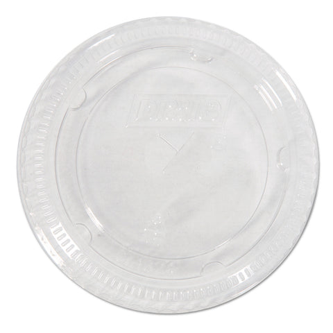 Dixie Cold Drink Cup Lids, Fits 16-24 oz Plastic Cold Cups, Clear,100/Pack, 10 Packs/Carton
