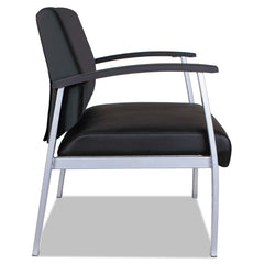 Alera Alera metaLounge Series Bariatric Guest Chair, 30.51'' x 26.96'' x 33.46'', Black Seat/Black Back, Silver Base