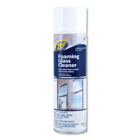 Zep Commercial Foaming Glass Cleaner, Pleasant Scent, 19 oz Bottle, 12/Carton
