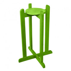 Wood Painted Stand - Dark Green