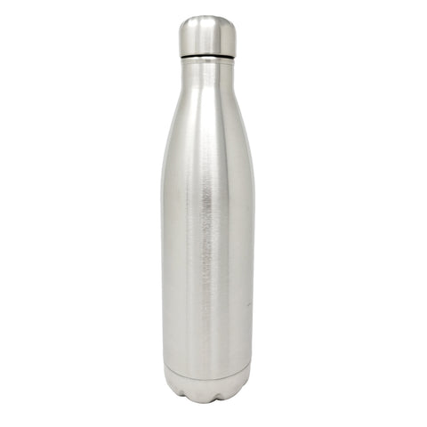 25 oz Double Wall Vacuum Sealed, 304 Stainless Steal Round Slim Bottle with Stainless Cap  | Great For Alkaline Water Storage - Stainless Steel