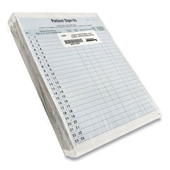 Tabbies Patient Sign-In Label Forms, 8 1/2 x 11 5/8, 125 Sheets/Pack, Blue - Blue / 8 1/2 x 11 5/8