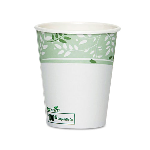 Dixie PLA Hot Cups, Paper w/PLA Lining, Viridian, 10 oz Squat, 50/Pack