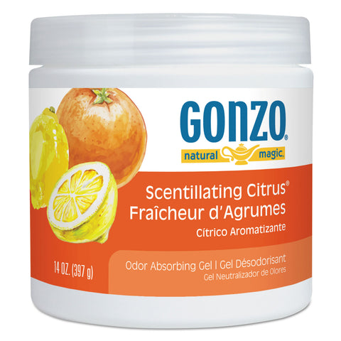 Natural Magic Odor Absorbing Gel, Scentillating Citrus, 14 oz Jar