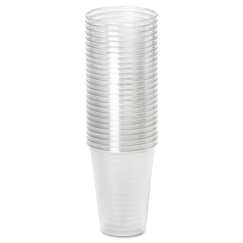 Dixie Clear Plastic PETE Cups, Cold, 10oz, WiseSize, 25/Pack, 20 Packs/Carton - Clear