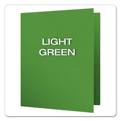 "Oxford Twin-Pocket Folders with 3 Fasteners, Letter, 1/2"" Capacity, Green, 25/Box - Green / 11 x 8 1/2"