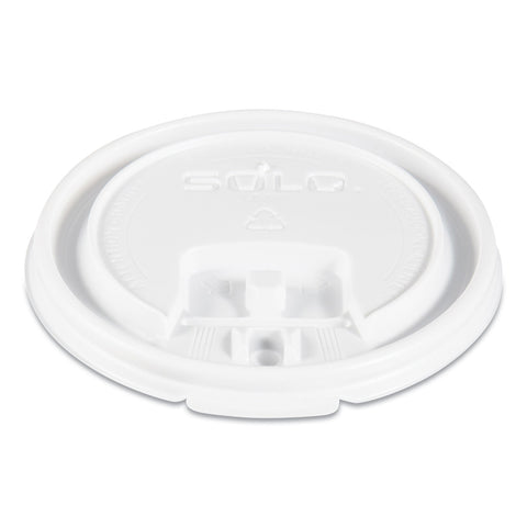 Dart Lift Back and Lock Tab Cup Lids, for 8oz Cups, White, 100/Sleeve, 10 Sleeves/CT