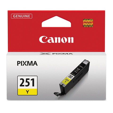 Canon 6516B001 (CLI-251) ChromaLife100+ Ink, 330 Page-Yield, Yellow