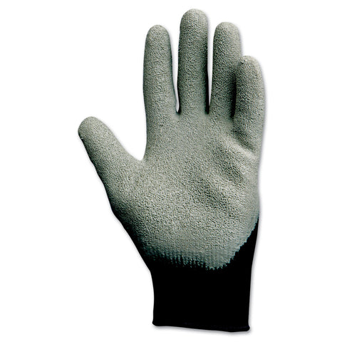 KleenGuard G40 Latex Coated Poly-Cotton Gloves, 250 mm Length, Large/Size 9, Gray, 12 Pairs