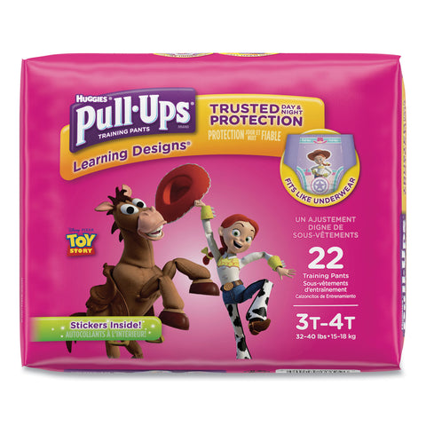 Huggies Pull-Ups Learning Designs Potty Training Pants for Girls, Size 3T-4T, 22/Pack - Doc McStuffins; Minnie Mouse / 3T-4T