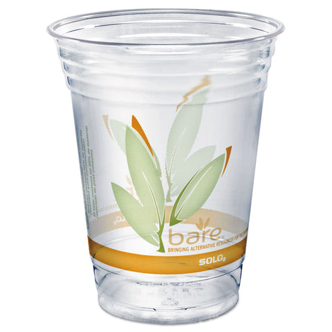 Dart Bare Eco-Forward RPET Cold Cups, 16-18 oz, Clear, 50/Pack