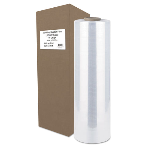 "Universal Machine Stretch Film, 20"" x 5000 ft, 20.3mic, Clear - Clear"