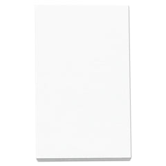 Universal Loose White Memo Sheets, 3 x 5, Unruled, Plain White, 500/Pack
